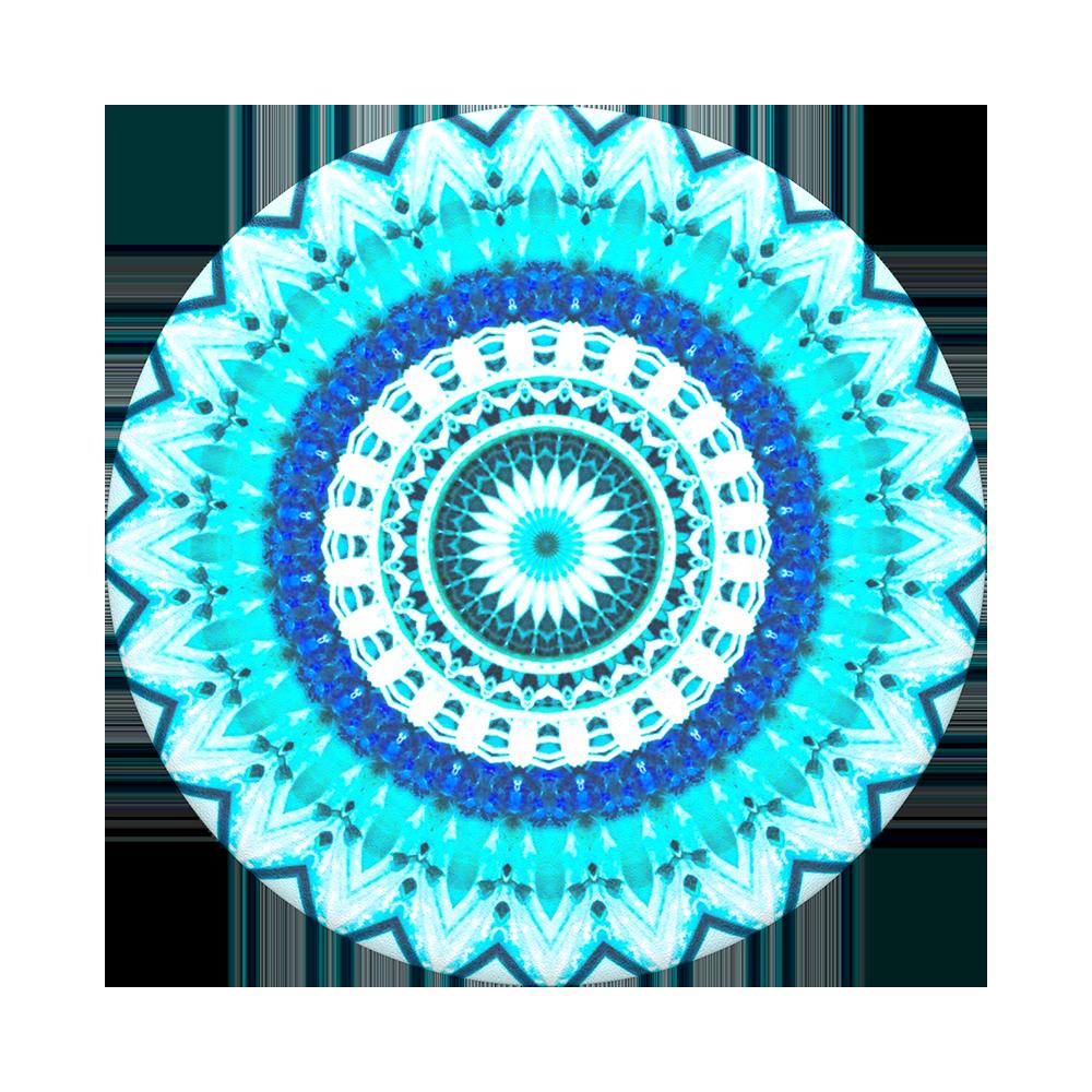 Popsockets 2GEN Blu Floral Mandala Suporte Para Celular Clip (zoom)